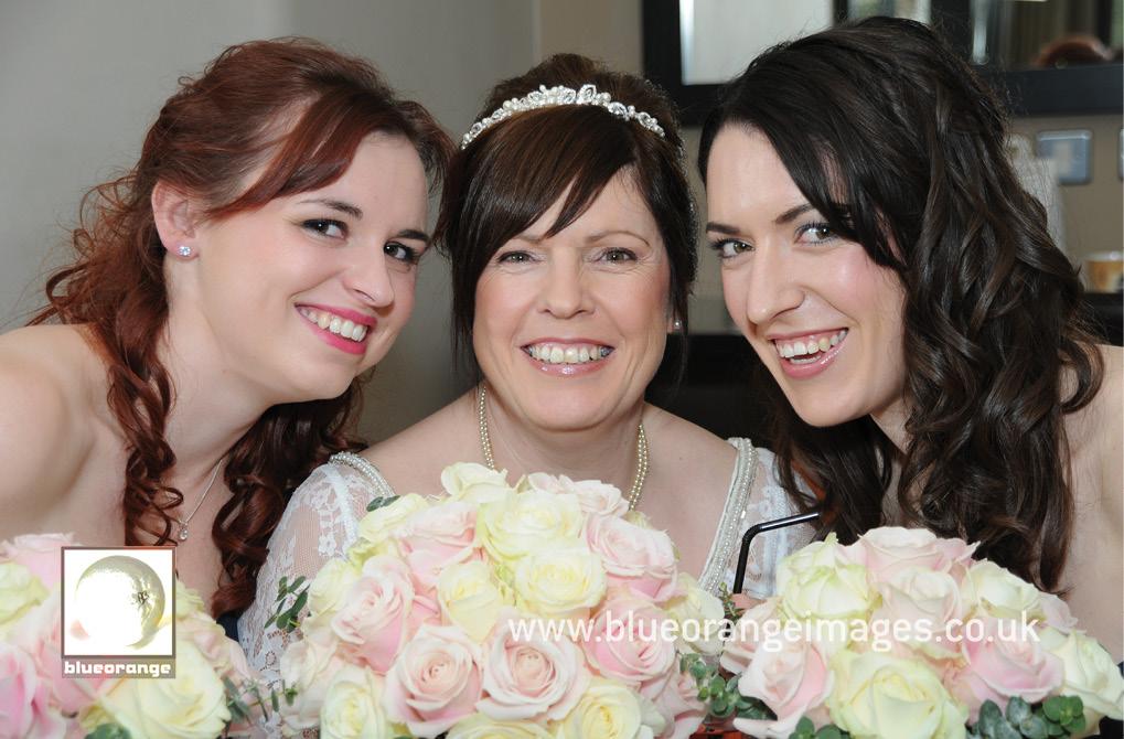 Bride and bridesmaids – Denham Grove wedding venue, Bucks
