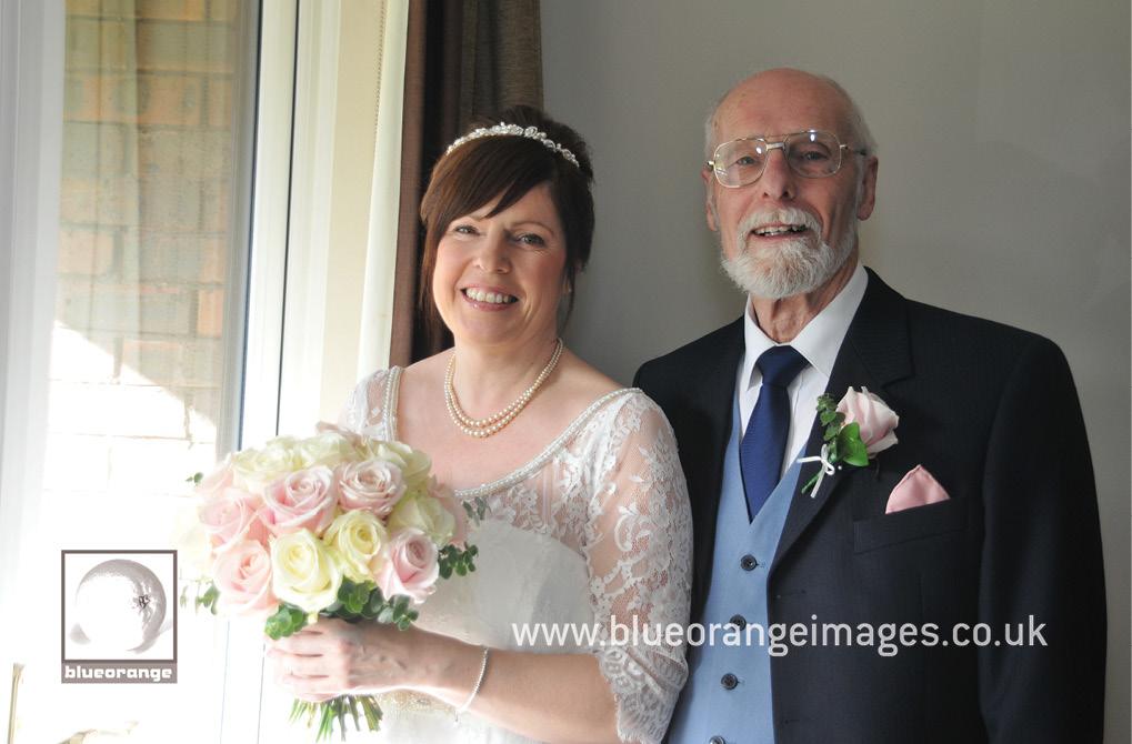 Denham wedding bride & father of the bride