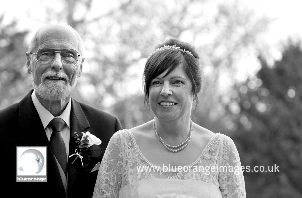 Denham Grove wedding – bride and father of the bride