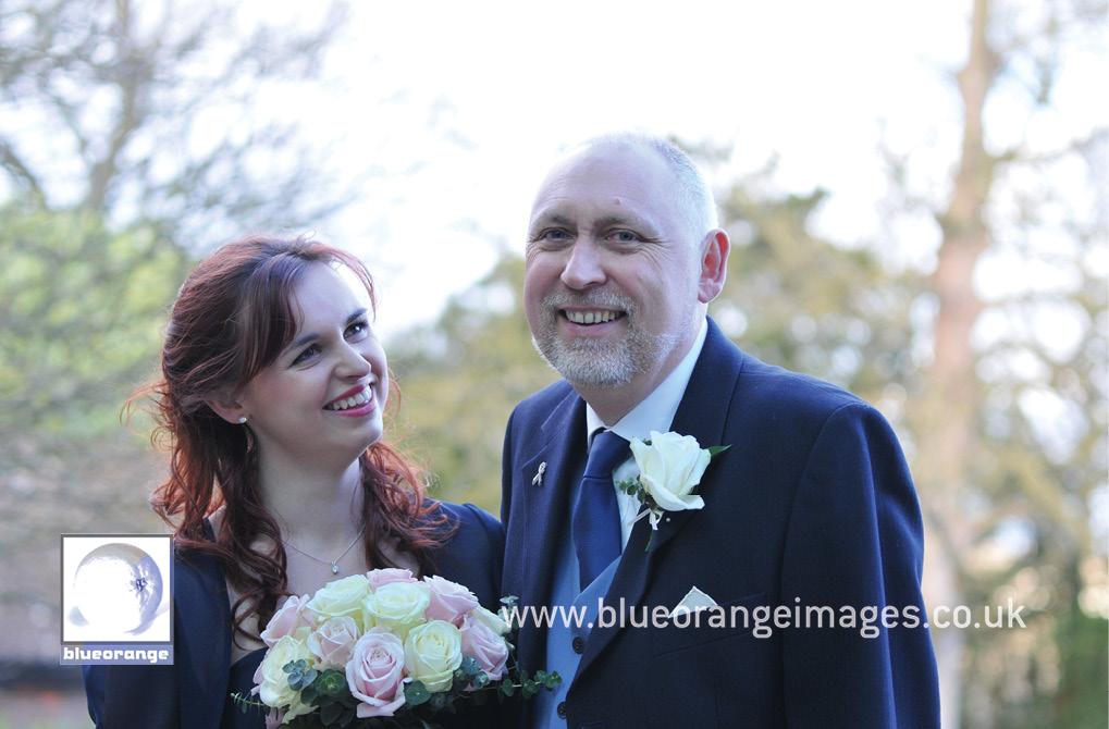 Bridegroom and bridesmaid – Denham Grove wedding venue, Bucks