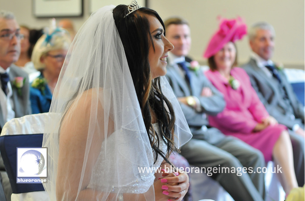 beautiful bride at her wedding ceremony