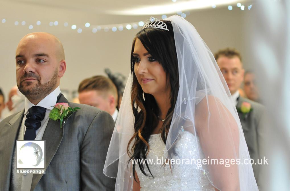 Wedding ceremony at Denham Grove