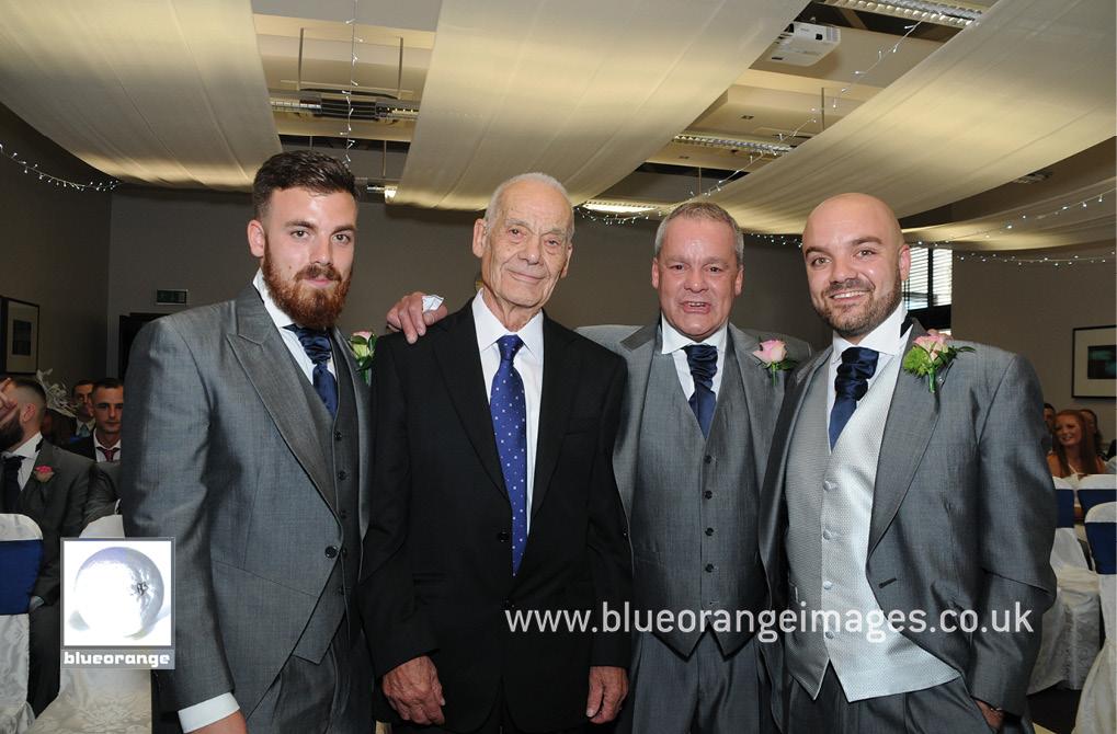 Groom, best man, father & grand father Denham Grove