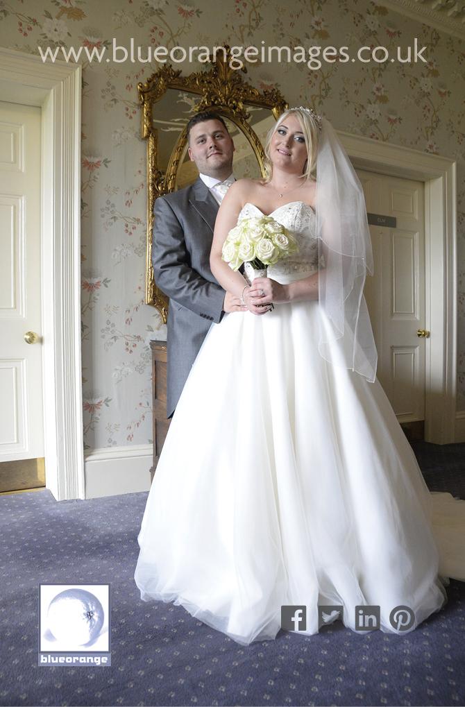 Bride & groom St Michael's Manor Hotel, St Albans