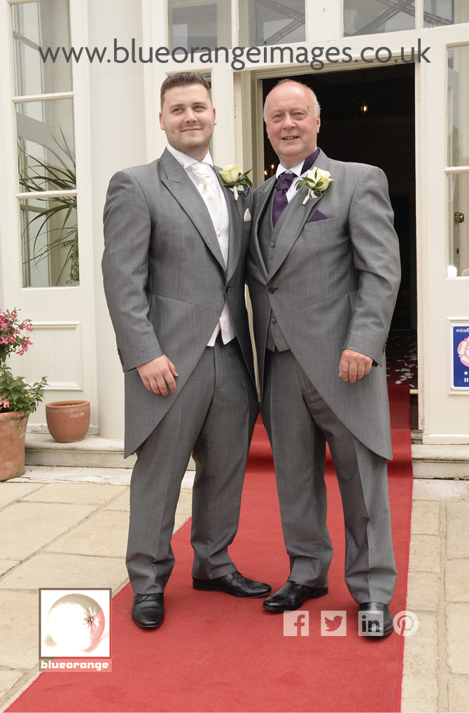 Groom and dad, St Albans wedding