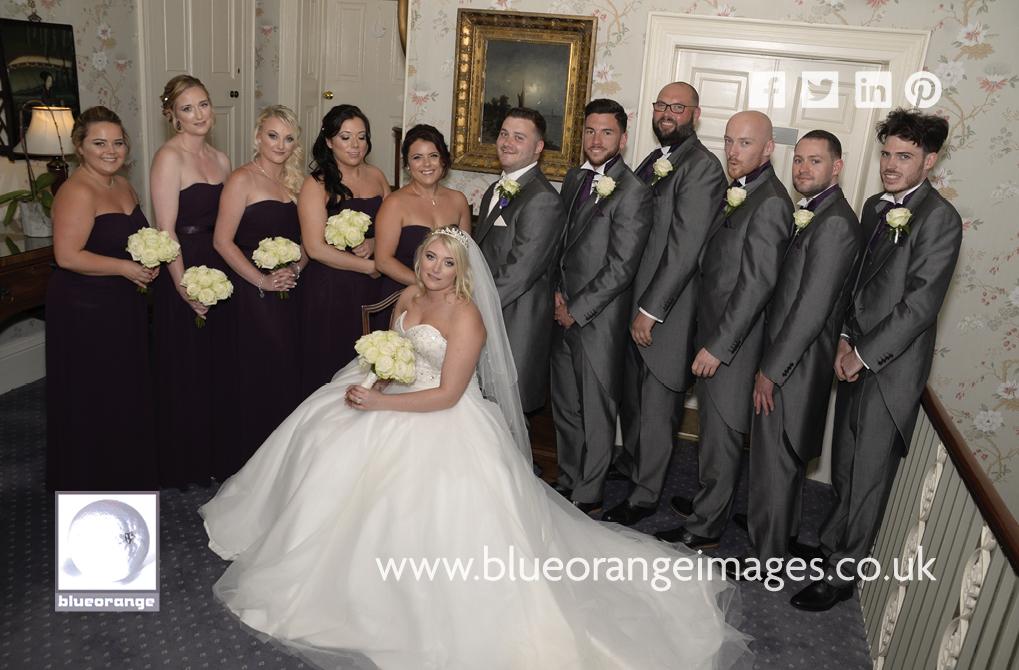 Emily & Michael – St Michael's Manor Hotel, bride, groom, bridesmaids & best men