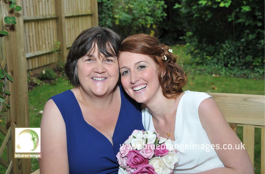 Bride and mum, Watford, Herts