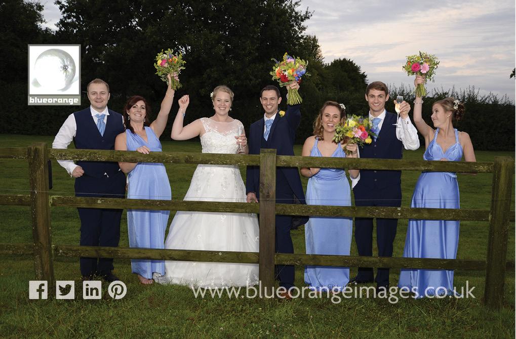 Katriona & Nick's wedding party, bride, bridegroom, bridesmaids and best men