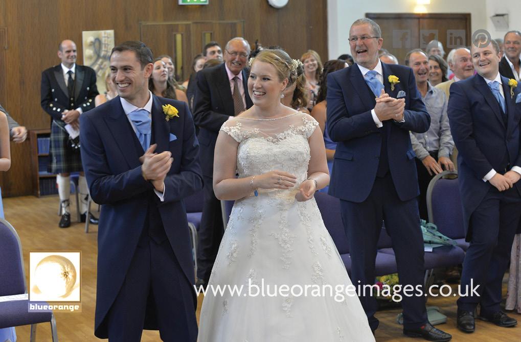 Katriona & Nick's wedding ceremony in Trinity United Reformed Church, St Albans