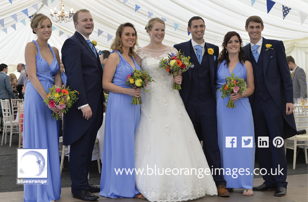 Katriona & Nick's marquee wedding reception near Sandridge, St Albans