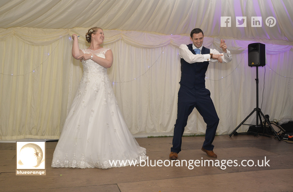 Katriona & Nick's marquee wedding reception near Heartwood, St Albans