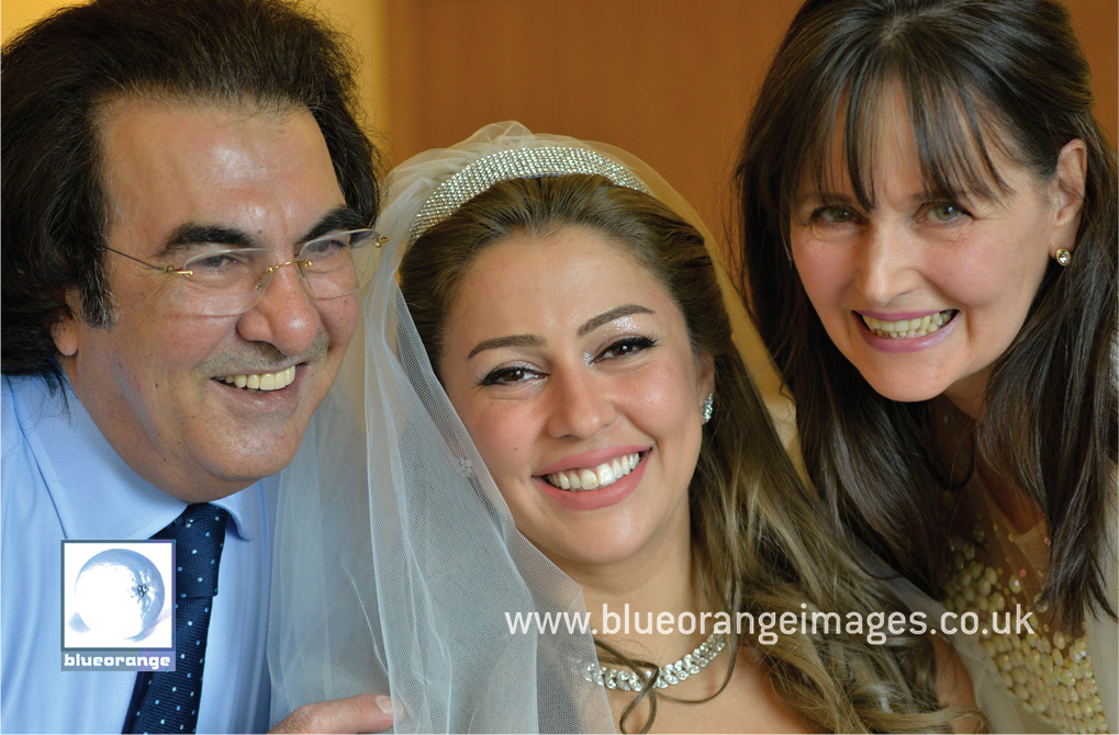 Bride, mother and father Chiswell Green wedding