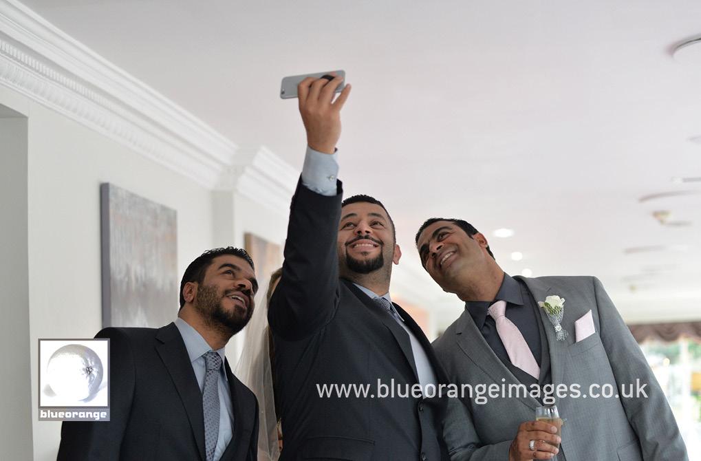 Best men and bridegroom selfie