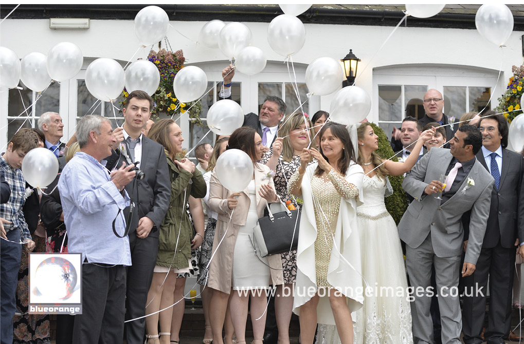 Balloon launch St Albans wedding