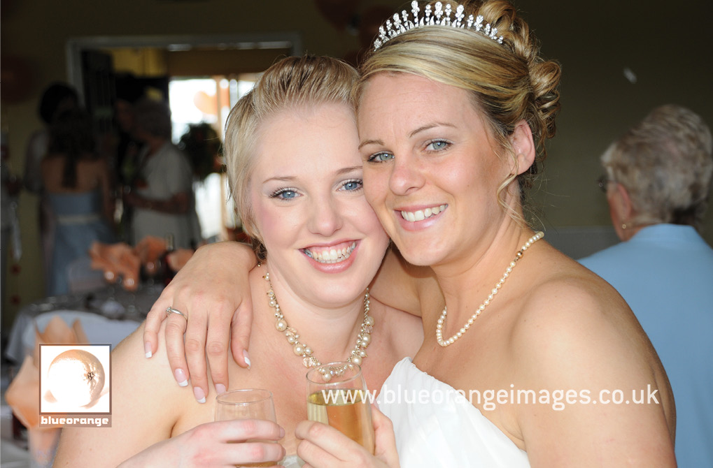 The bride and one of the bridesmaids