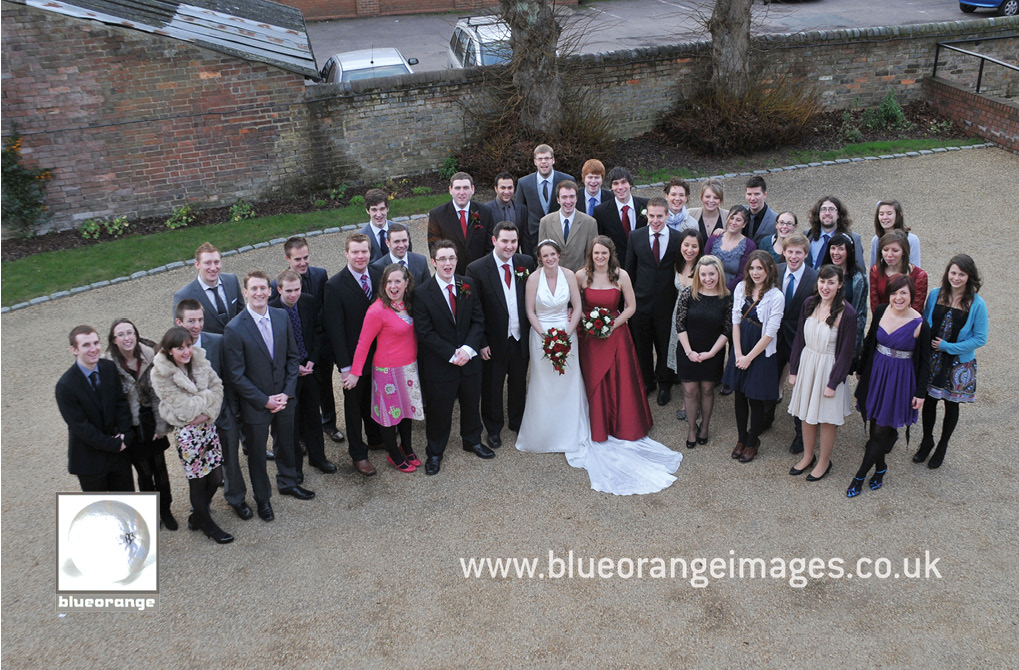 Grace and James's wedding photos in Dunstable – the families