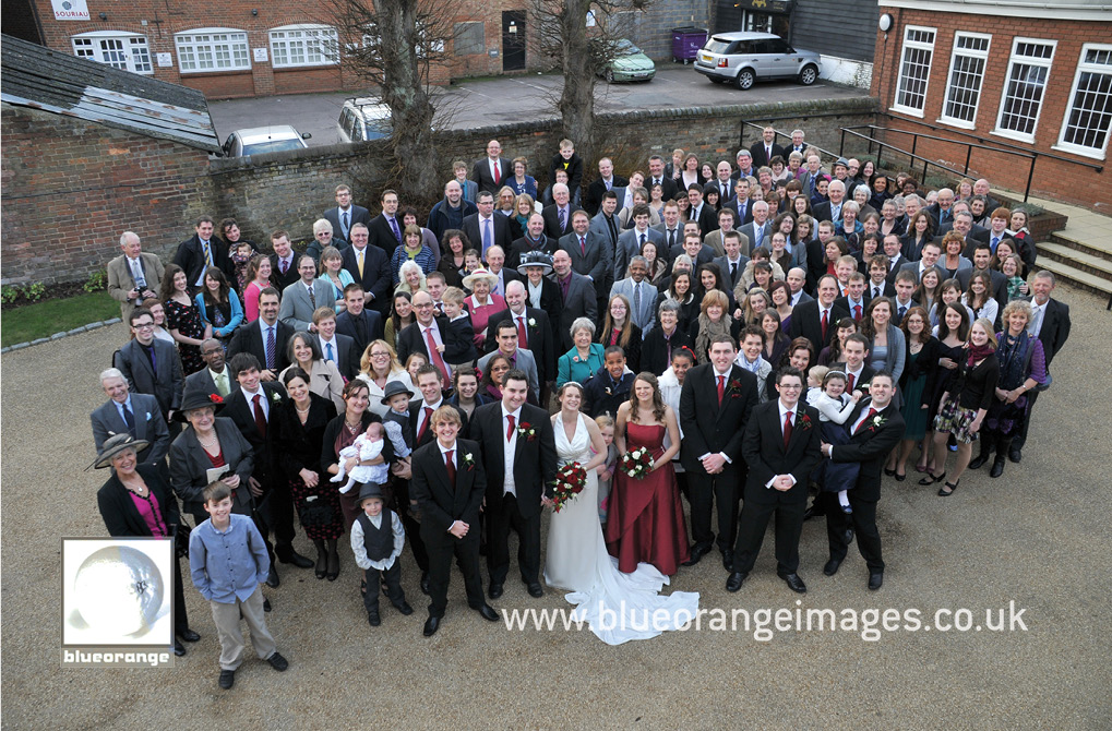 Grace and James's wedding – the big guest photo
