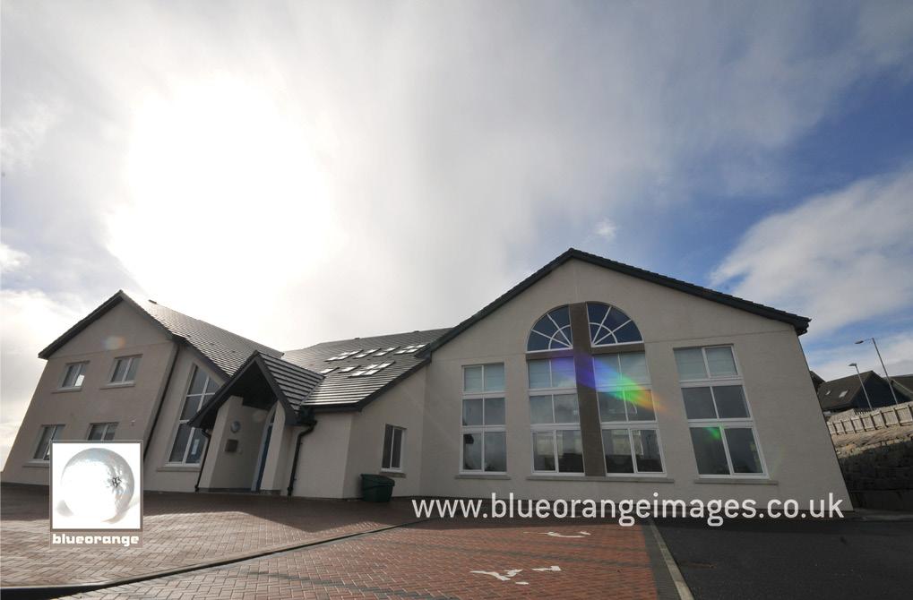 The wedding ceremony venue – Lerwick Baptist Church, Shetland