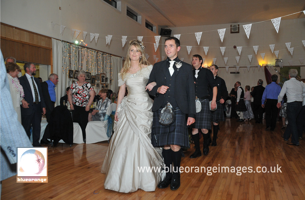 The wedding march, Weisdale Public Hall