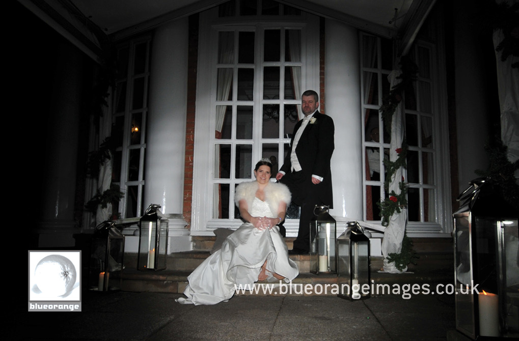 Wedding at Hunton Park venue – bride and groom, evening photos