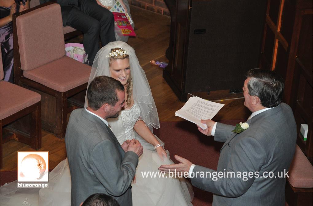 Lucinda & Dave – Watford Church of the Nazarene. The wedding ceremony