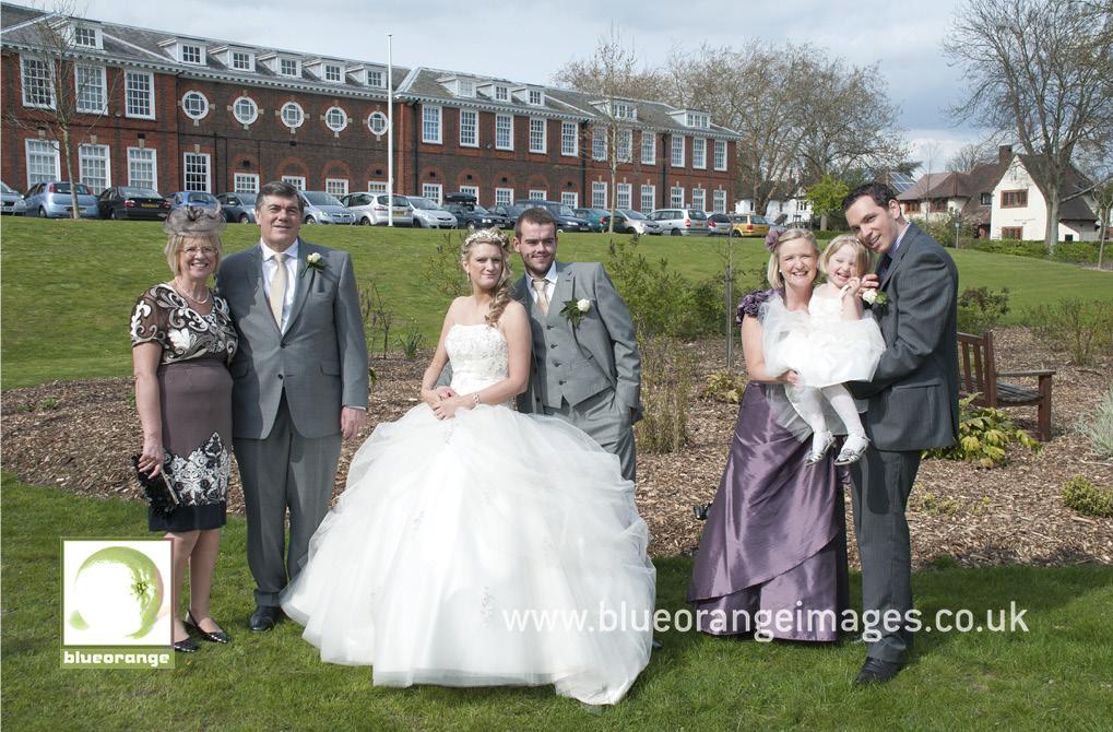 Family photo, bride's side, Watford Boys' Grammar School