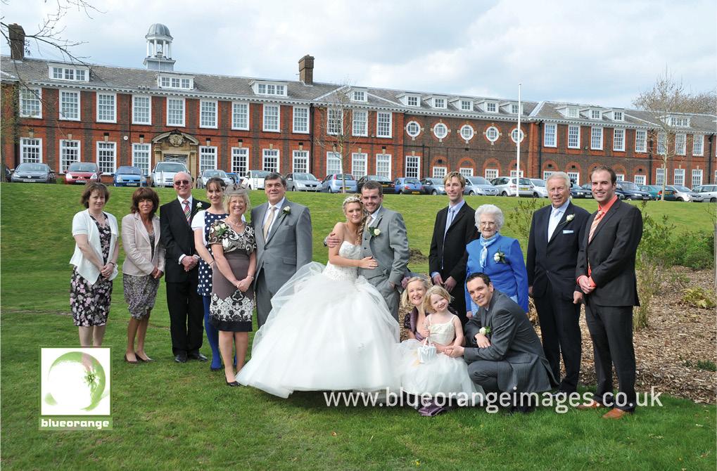 Lucinda & Dave – Watford Church of the Nazarene, family photo, bride groom's side, Watford Boys' Grammar School