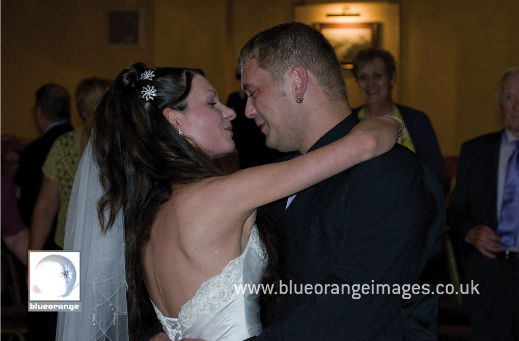 The bride and groom – the first dance