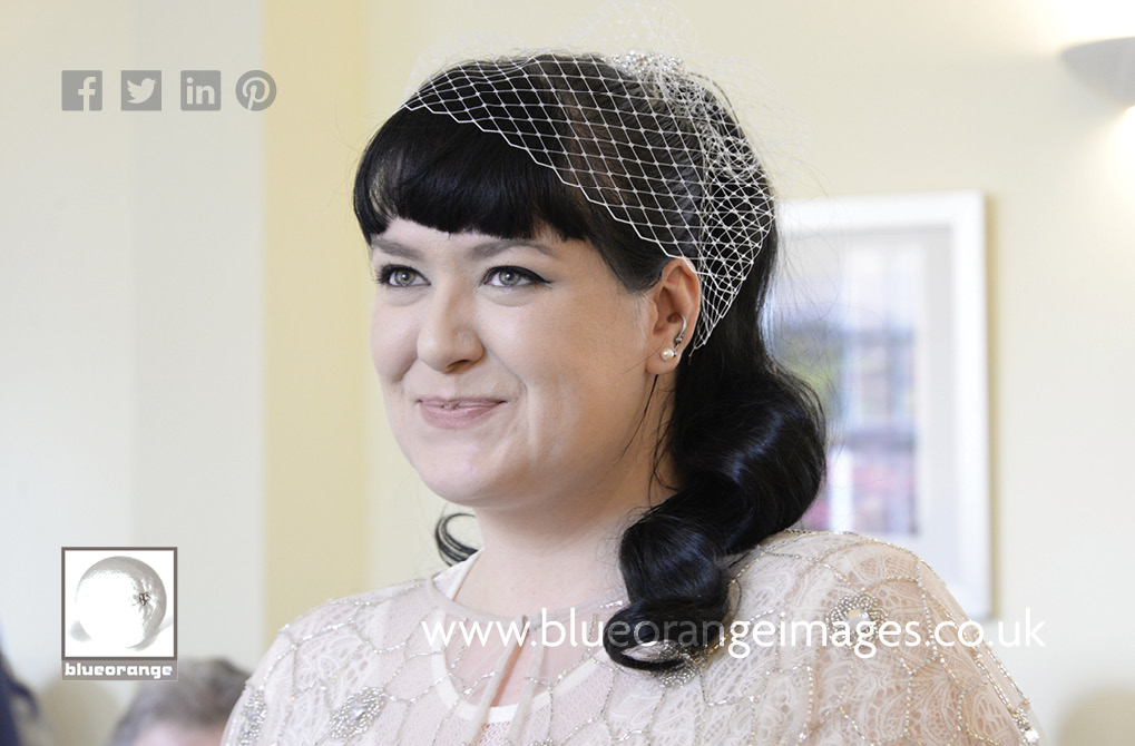 Carrie the beautiful vintage bride, Watford registry office wedding