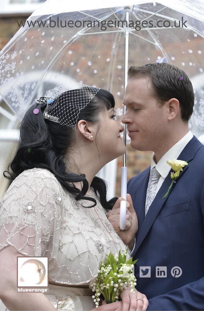 Carrie & Matt, a lovely wedding with umbrella accessories