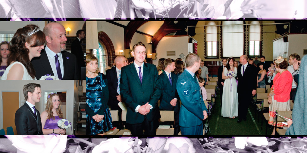 Louise and Sam's wedding photo album. Wedding at Bushey Baptist Church & Sun Postal Social Club, Watford