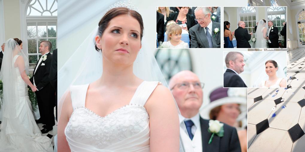 Wedding in Hunton Park's lovely ceremony room – The Orangery