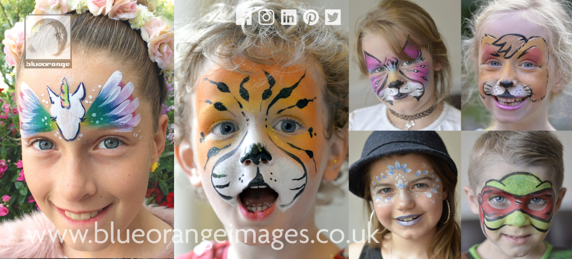 Watford face painter Edna Blue Orange Images