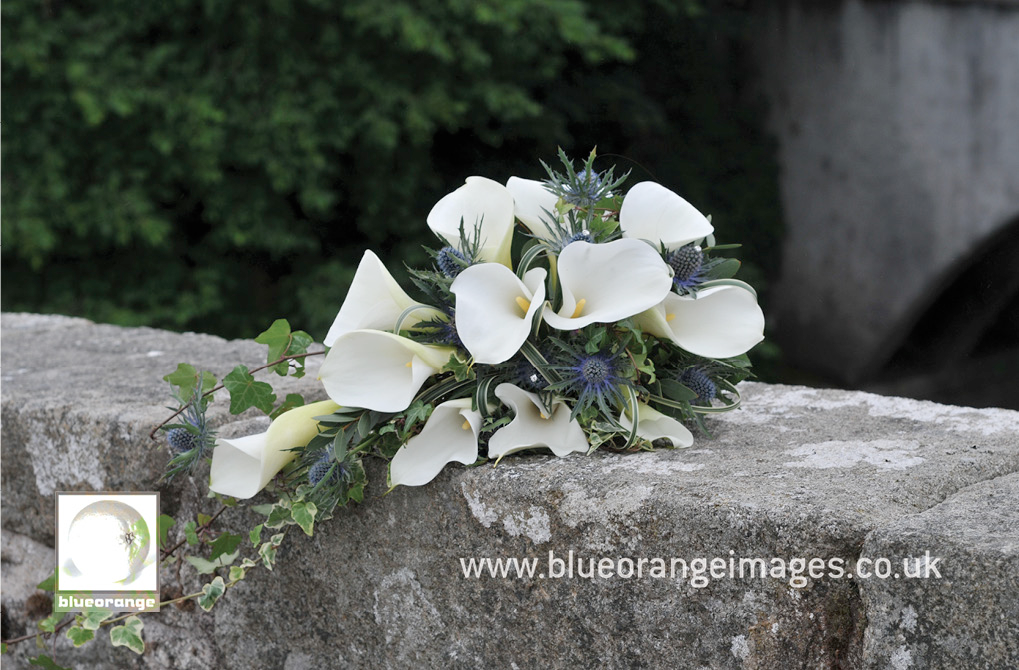 The bride's bouquet – lillies and thistles
