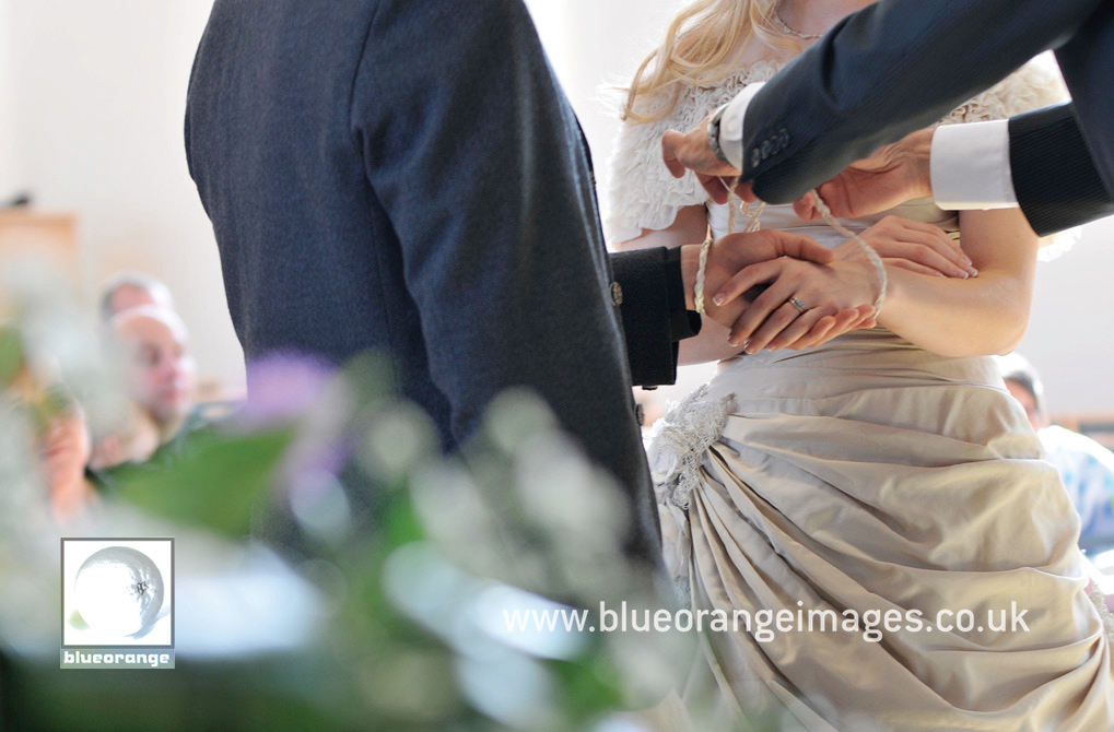 Hand-tying as part of the wedding ceremony
