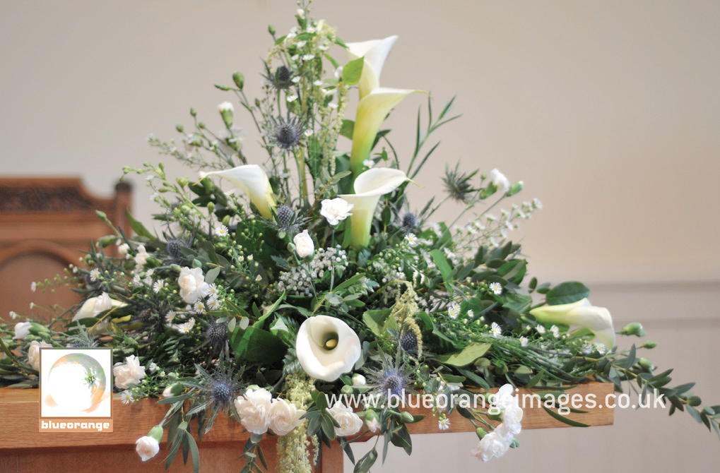 Beautiful bridal bouquet, Scottish themed with lillies and thistles