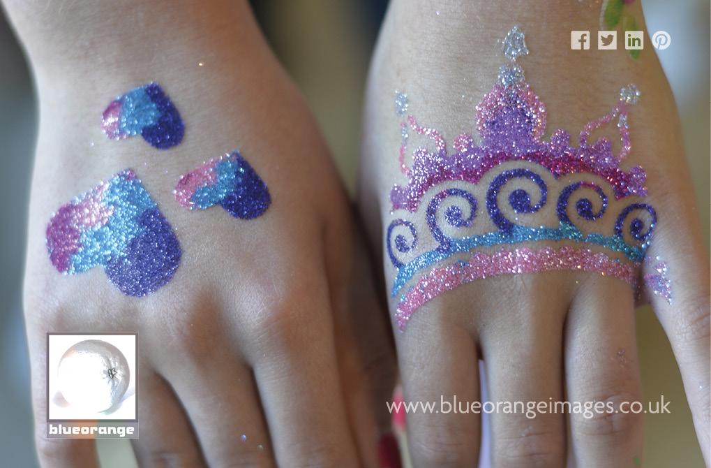Blue Orange Images, Watford - glitter tattoos