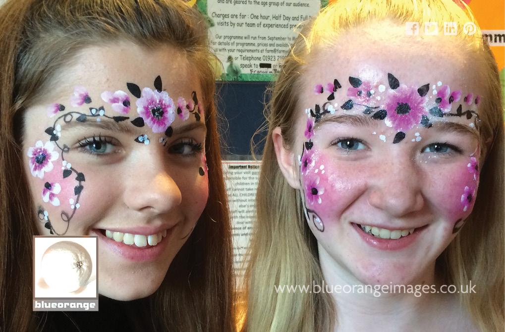 Watford face painter & glitter tattoos